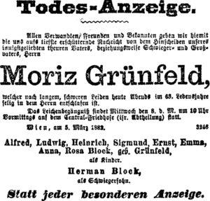 Moriz Grunfeld (1819-1882)