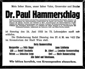 Paul Hammerschlag (1860-1933)