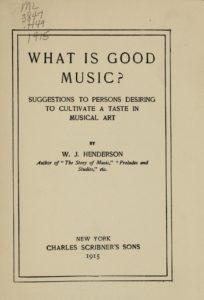 William James Henderson (1855-1937)