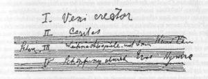 Einleitung Sinfonie Nr. 8