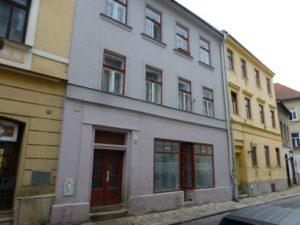 Grocery Bernard Mahler (Brnenska street Nos 3/57, Bohm Gasse No. 90)