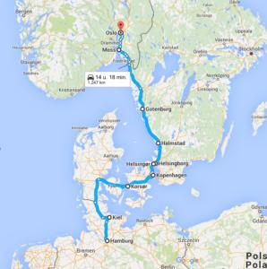 Scandinavia tour year 1891 (Denmark, Sweden, Norway, Denmark)