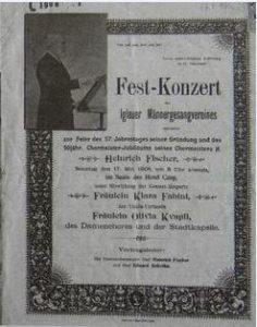 Hall of Singers (Hluboka street Nos. 7/106, Tiefegasse No. 201)