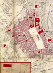 Mapa de la ciudad de Iglau 1876 (alemán)