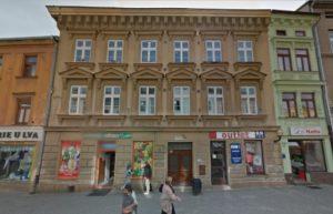 Casa Heinrich Fischer 1874 y posteriores (calle Palackeho Nos. 13/1231, Breitegasse No. 423)