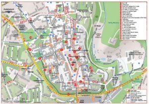 خريطة مدينة جيهلافا 2014 (التشيكية والإنجليزية)