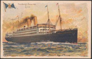 1908 En dirección este 23-04-1908 hasta 02-05-1908 SS Kaiserin Auguste Victoria