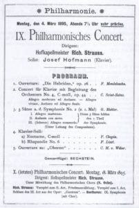 1895 Concert Berlin 04-03-1895 - Symphony No. 2 - movement 1, 2 and 3