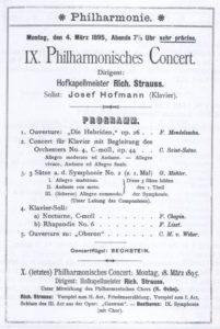 1895 Concert Berlin 04-03-1895 - Symphony No. 2 - movement 1, 2 and 3