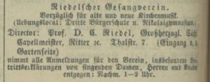 Gesangverein Riedel