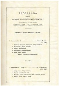 1909 Concert The Hague 02-10-1909 - Symphony No. 7