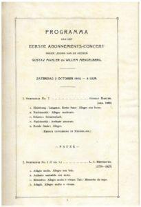 1909 Concert The Hague 02-10-1909 - Symphony No. 7