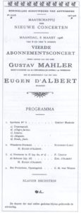 1906 Concierto Amberes 05-03-1906 - Sinfonía n. ° 5
