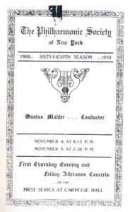 1909 Concierto Nueva York 05-11-1909