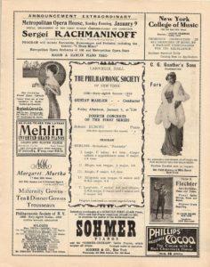 1910 Concert New York 07-01-1910