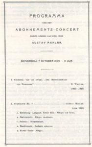 1909 Concert Amsterdam 07-10-1909 - Symphony No. 7
