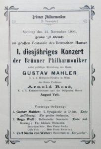 1906 Concert Brno 11-11-1906 - Symphony No. 1