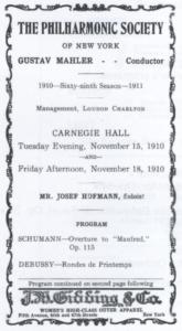 1910 Concert New York 15-11-1910