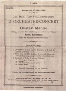 1896 Concierto Berlín 16-03-1896 - Sinfonía n. ° 1, Todtenfeier, Lieder eines fahrenden Gesellen (Estreno)