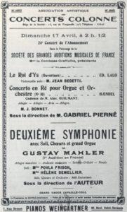 1910 حفلة باريس 17-04-1910 - السمفونية رقم 2