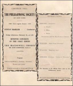 1910 Concert New York 18-02-1910