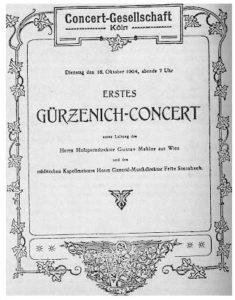 1904 Concert Cologne 18-10-1904 - Symphony No. 5 (Premiere)