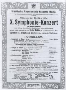 1904 Concert Mainz 23-03-1904 - Symphony No. 4