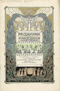 1903 Concert Amsterdam 23-10-1903 - Symphony No. 3