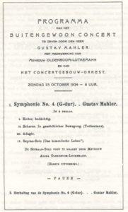 1904 Concert Amsterdam 23-10-1904 - Symphony No. 4 (twice)