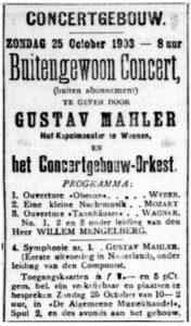 1903 Concert Amsterdam 25-10-1903 - Symphony No. 1