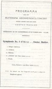 1904 Concert Amsterdam 27-10-1904 - Symphony No. 2