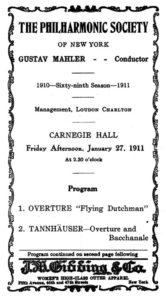 1911 Concert New York 27-01-1911