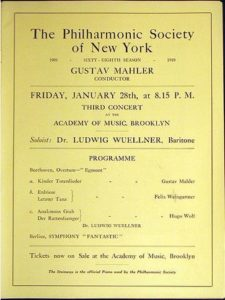 حفل 1910 في بروكلين 28-01-1910 - Kindertotenlieder