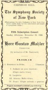 1908 Concierto Nueva York 29-11-1908