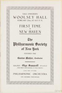 1910 Concert New Haven 23-02-1910