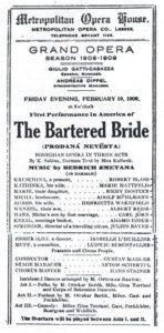 1909 Opera New York 19-02-1909