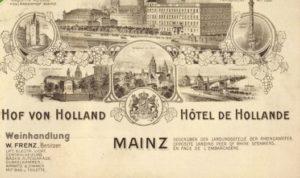 1904 Hotel Hof von Holland