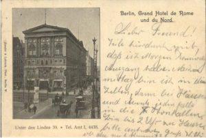 1907 Hotel Grand de Rome y du Nord