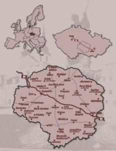 Mapa Vysočina Gustav Mahler