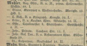 1886-1887 House Gustav Mahler Leipzig - Gottschedstrasse No. 4 II