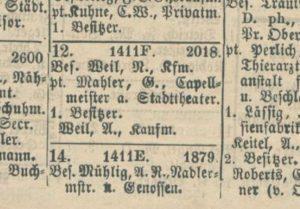 1887-1888 House Gustav Mahler Leipzig - Gustav Adolfstrasse No. 12