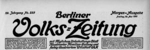 Berliner Volks-Zeitung