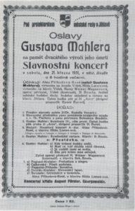 Festival Mahler 1931 Jihlava