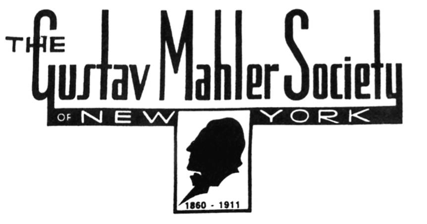 The Gustav Mahler Society of New York