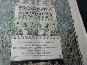 गुस्ताव महलर कार्यक्रम एम्स्टर्डम 1903