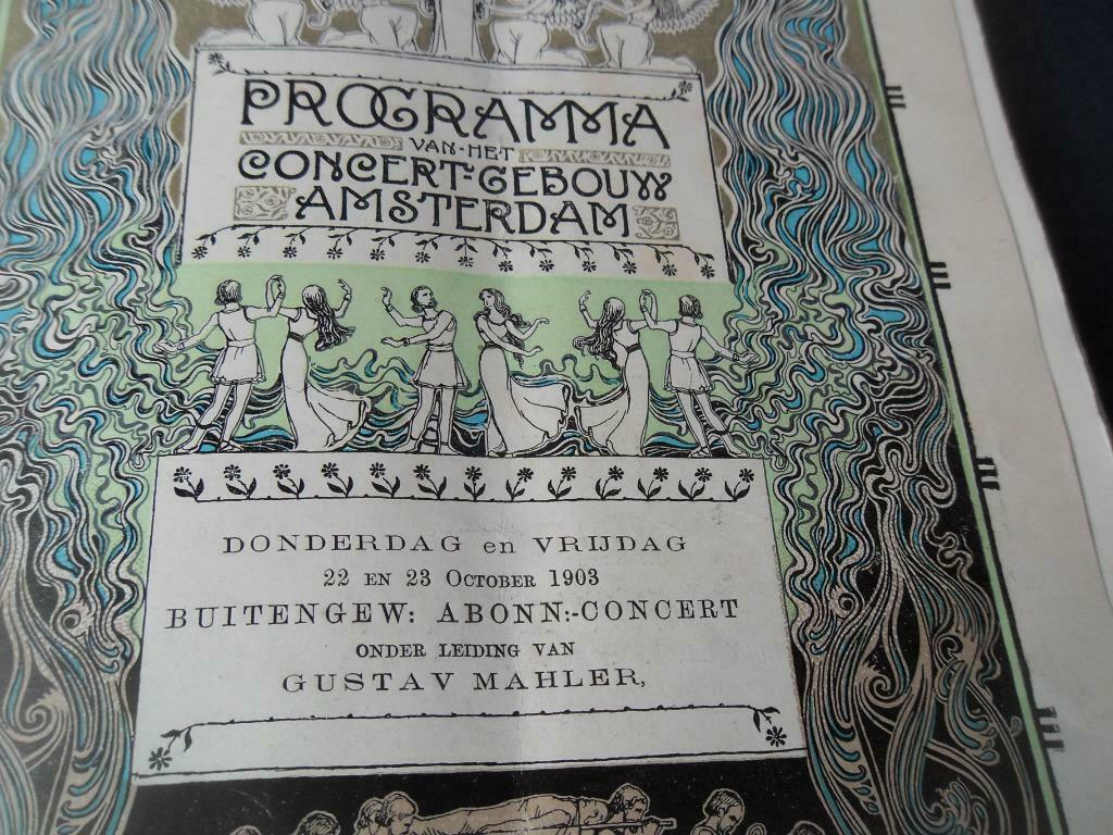 Gustav Mahler Programy Amsterdam 1903